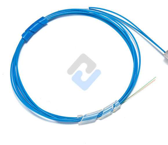 1x2 PLC Fiber Splitter, Steel Tube, Bare Fiber 250μm, No Connector