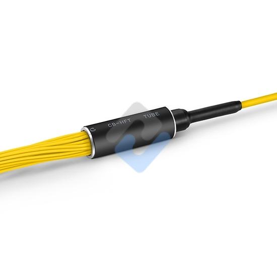 Customized 24-144 Fibers Senko MPO-24 OS2 Single Mode Elite Breakout Cable, Yellow