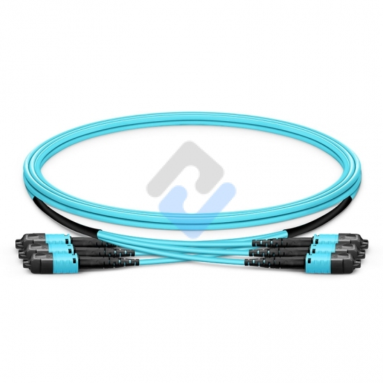 MTP® PRO 8-144 Fibers MTP®-12 OM3 Multimode Elite Trunk Cable, Aqua