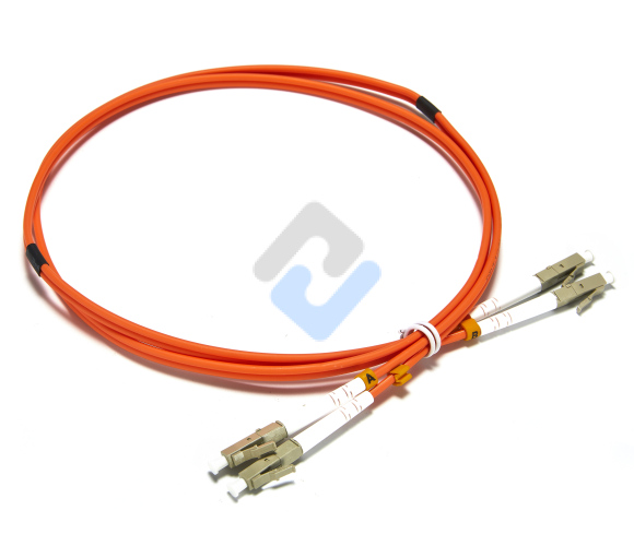 LC to LC UPC Duplex OM2 2.0mm PVC Fiber Patch Cable, 1m