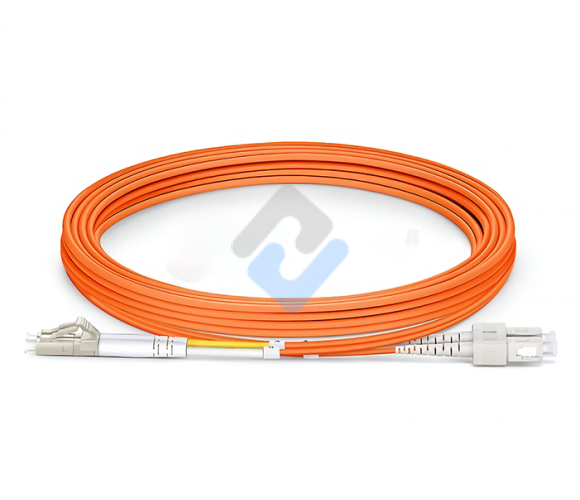 LC to SC UPC Duplex OM2 2.0mm PVC Fiber Patch Cable, 1m