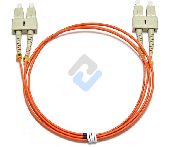SC to SC UPC Duplex OM2 2.0mm PVC Fiber Patch Cable, 1m