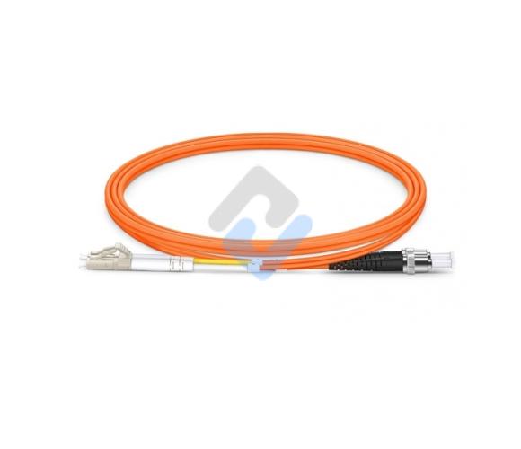 LC to ST UPC Duplex OM2 2.0mm PVC Fiber Patch Cable, 1m