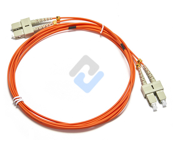 SC to SC UPC Duplex OM2 2.0mm LSZH Fiber Patch Cable, 1m