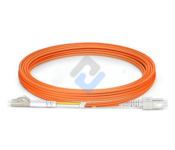 LC to SC UPC Duplex OM2 3.0mm PVC Fiber Patch Cable, 3m