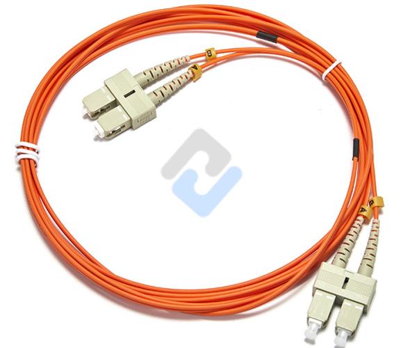 SC to SC UPC Duplex OM2 3.0mm PVC Fiber Patch Cable, 5m