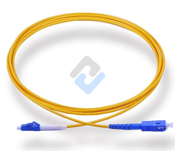 LC to SC UPC Simplex OS2 2.0mm LSZH Fiber Patch Cable, 1m