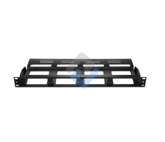 1U Rack Mount FHD Modular Fiber Enclosure Panel, Holds up to 4x FHD Cassette or Panels