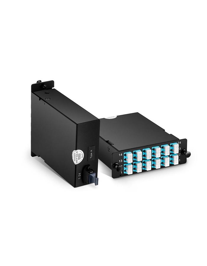 MTP-24 to 12x LC Duplex, Type A, 24 Fibers OM4 Multimode FHD MTP/MPO Cassette