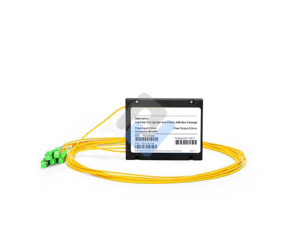 Customized 1xN, 2xN Splice Pigtailed ABS Module PLC Splitter, Singlemode