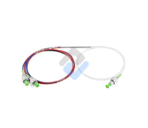 1X2 FC/APC FBT Splitter Singlemode Dual Window 0.9mm Fiber with Loose Tube