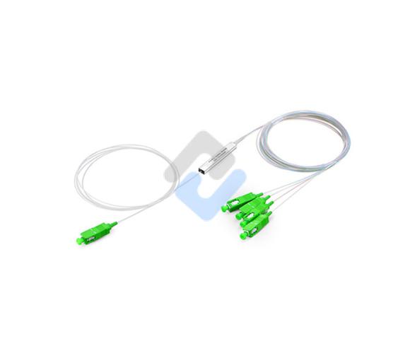 Séparateur de fibre PLC 1x4, mini module, 900 μm, SC / APC, monomode